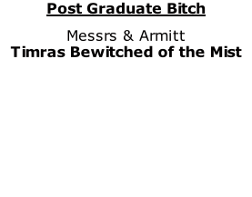 Post Graduate Bitch Messrs & Armitt Timras Bewitched of the Mist